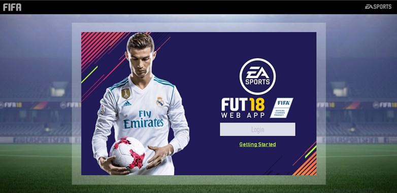 FIFA18UTWebAppLogin