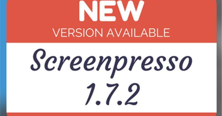 【画像編集 Screenpresso】ver1.7.2の変更点
